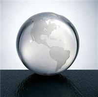 Optical Crystal World Globe Paperweight, Clear