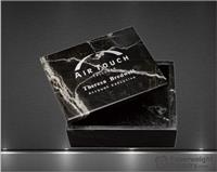 2 x 5 x 4 Inch Black Zebra Marble Rectangular Box with Lid