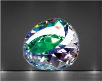 2 x 3 x 3 Inch Colored Gem Optic Crystal Paperweight