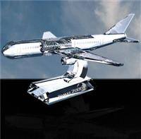 Optical Crystal Airplane Paperweight