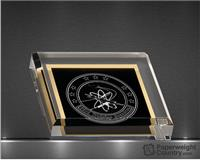 PC - 3 3/4 x 3 3/4 Inch Black Acrylic Paperweight