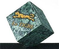 Green Marble Diamond Cube Paperweight
